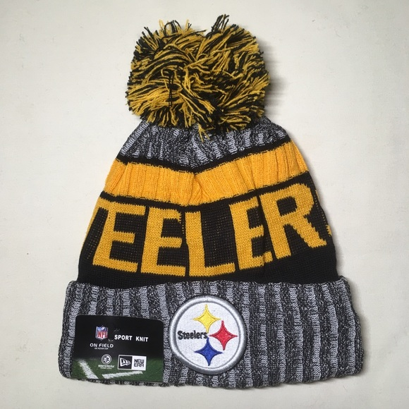 6cde590d Pittsburgh Steelers beanie hat NWT